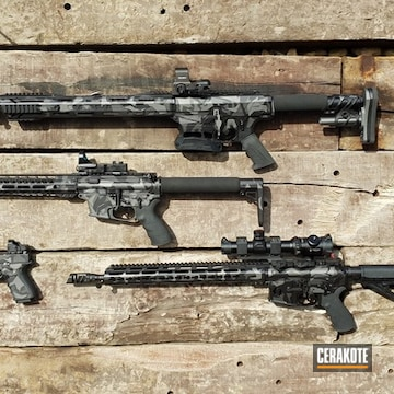 Cerakoted Splinter Camo Set In Ar-12, H-237, H-190 And H-112