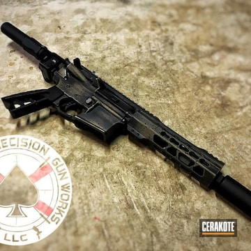 Cerakoted Distressed Ar Pistol In H-146 And H-269