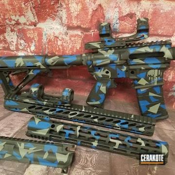 Cerakoted Splinter Camo Ar-15