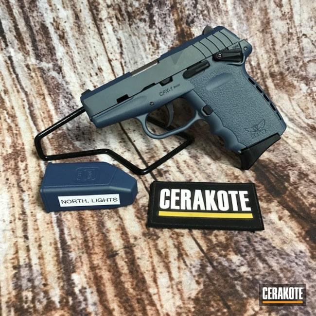 Cerakoted Green 9mm Sccy Cpx-1 Handgun