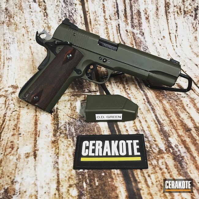 Cerakoted: SHOT,Pistol,Sig Sauer,O.D. Green H-236,1911