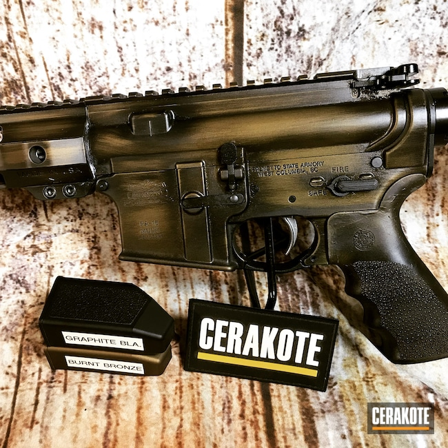 Cerakoted: S.H.O.T,Palmetto State Armory,PA-15,Battleworn,Graphite Black H-146,AR-10,Burnt Bronze H-148,Tactical Rifle