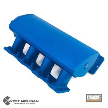 Cerakoted Blue Intake Manifold