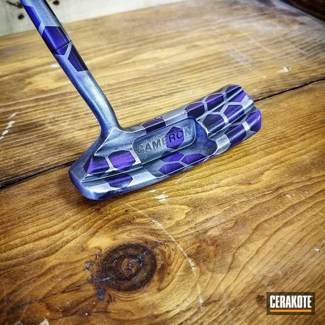 Cerakoted: Hex Camo,Scotty Cameron,Golf,Graphite Black H-146,Distressed,Sports,Bright Purple H-217,Sports Equipment,Titanium H-170,Golfing