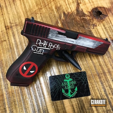 Cerakoted Deadpool Themed Glock In H-140, H-146 And H-167