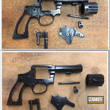 Cerakoted Black Restored S&w Revolver