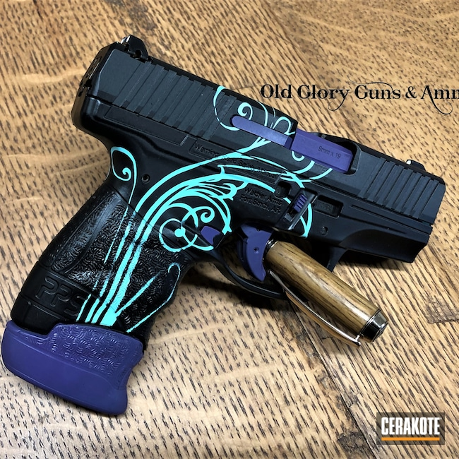Cerakoted: SHOT,Walther,Robin's Egg Blue H-175,Graphite Black H-146,Bright Purple H-217,PPS,Pistol