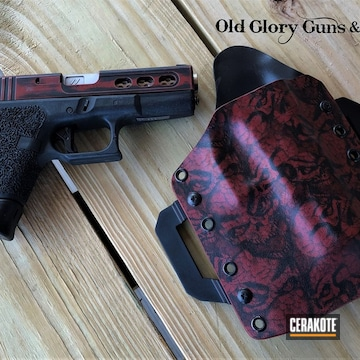 Cerakoted Custom Glock In H-146 And H-221