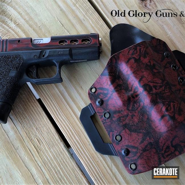 Cerakoted: SHOT,Graphite Black H-146,Crimson H-221,Pistol,Glock,Gun Coatings