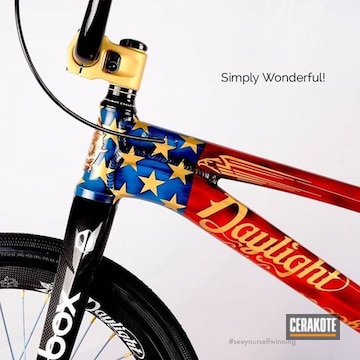 Cerakoted American Flag Bicycle In H-146, H-297, H-167 And H-169