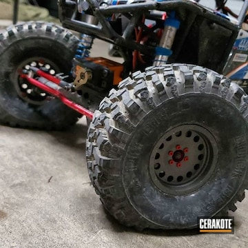 Cerakoted Rc Car Parts In H-167 And H-237