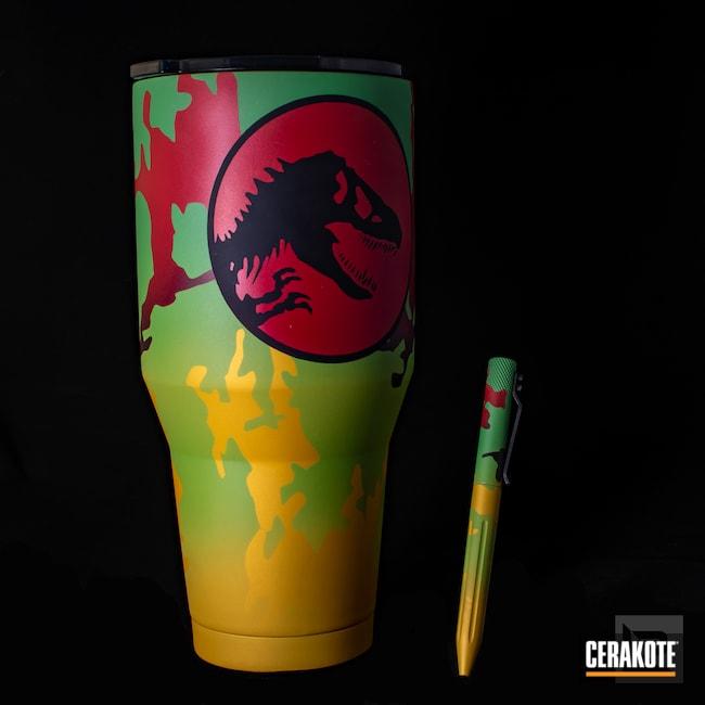 Cerakoted: Jurassic Park Theme,Jurassic Park Explorer,Zombie Green H-168,SQUATCH GREEN H-316,Matching Set,Tumbler,Electric Yellow H-166,Lifestyle,Graphite Black H-146,HABANERO RED H-318,Jurassic Park,Ozark Trail,Cup,40oz,SUNFLOWER H-317