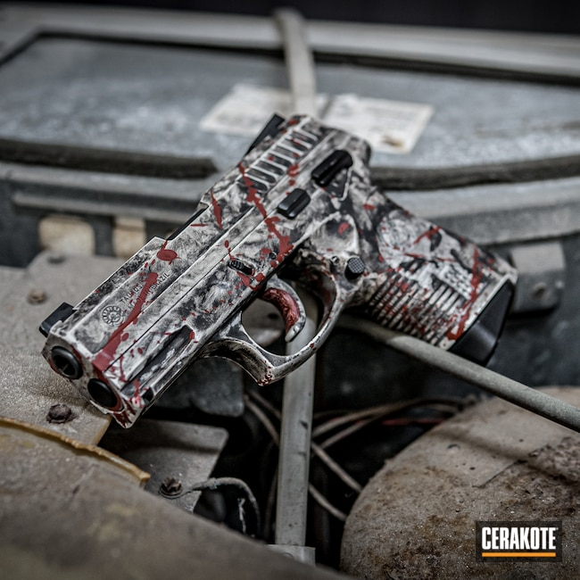 Cerakoted: SHOT,PT-838,Stormtrooper White H-297,Armor Black H-190,Pistol,Taurus,SMITH & WESSON® RED H-216,Handgun