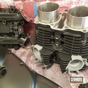 Cerakoted Yamaha Engine Parts In C-7600