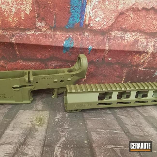 Cerakoted: SHOT,Ruger,Handguard,Tactical Rifle,Gun Parts,O.D. Green H-236,AR-15,AR15 Lower