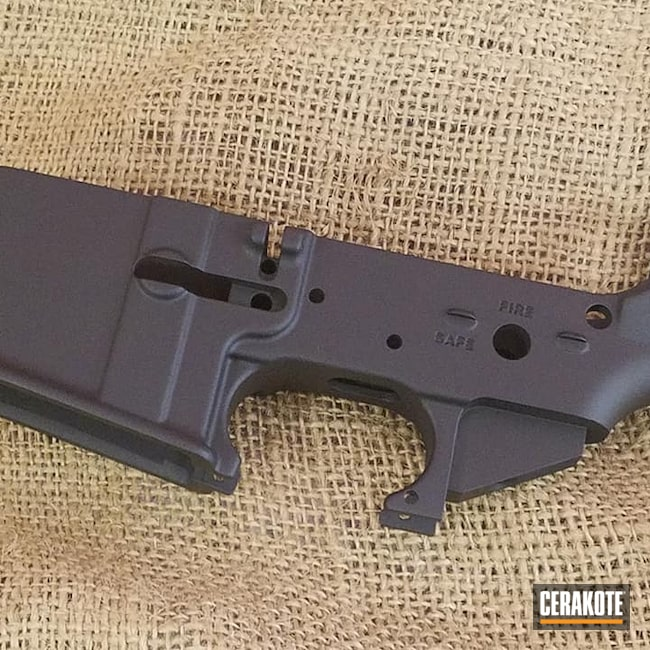 Cerakoted: S.H.O.T,Graphite Black H-146,Tactical Rifle,Gun Parts,AR-15,AR15 Lower