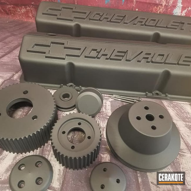 Cerakoted: Super Charger,Chevy,Engine Parts,TUNGSTEN C-111,Automotive Parts,Valve Covers,Automotive,High Temperature
