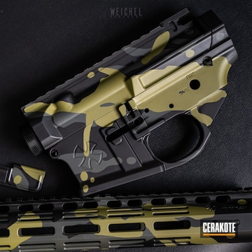 Cerakote Multicam Noveske Ghetto Blaster Ar Parts