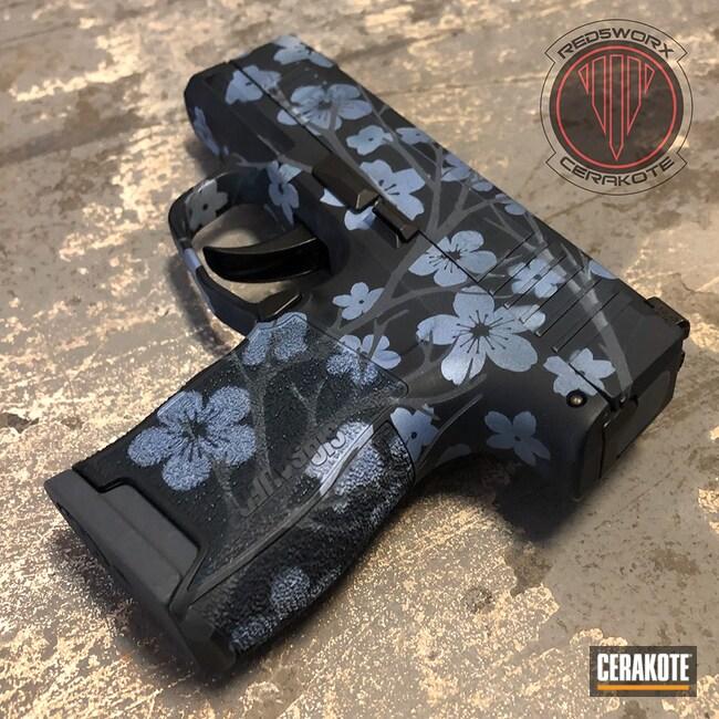 Cerakoted: S.H.O.T,Sig P365,9mm,Midnight Blue H-238,Pocket Pistol,EDC Pistol,NORTHERN LIGHTS H-315,Pistol,Sig Sauer,POLAR BLUE H-326