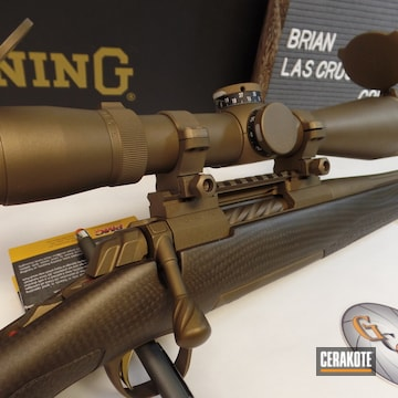 Cerakoted Bronze Browning Bolt Action Rifle And Scope