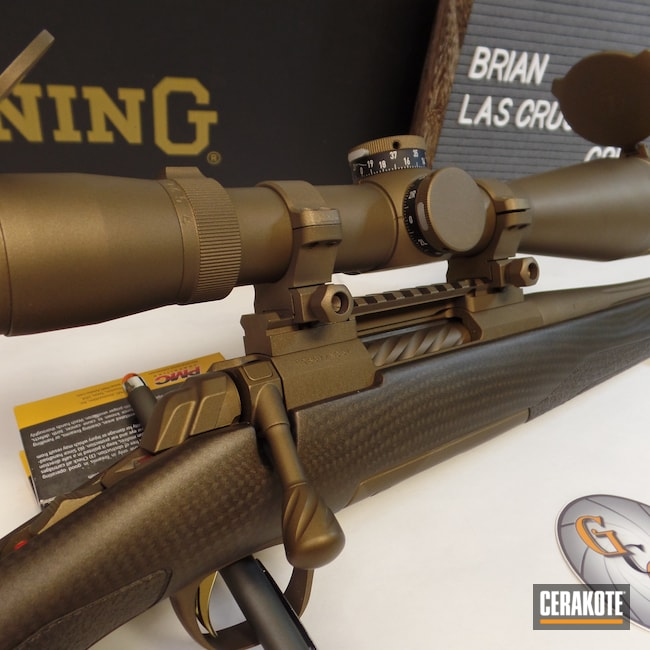 Cerakoted: S.H.O.T,Bolt Action Rifle,Scope,Burnt Bronze,Leupold Scope,Burnt Bronze H-148,Browning,Browning X-Bolt,Cerakote That S**t,Leupold