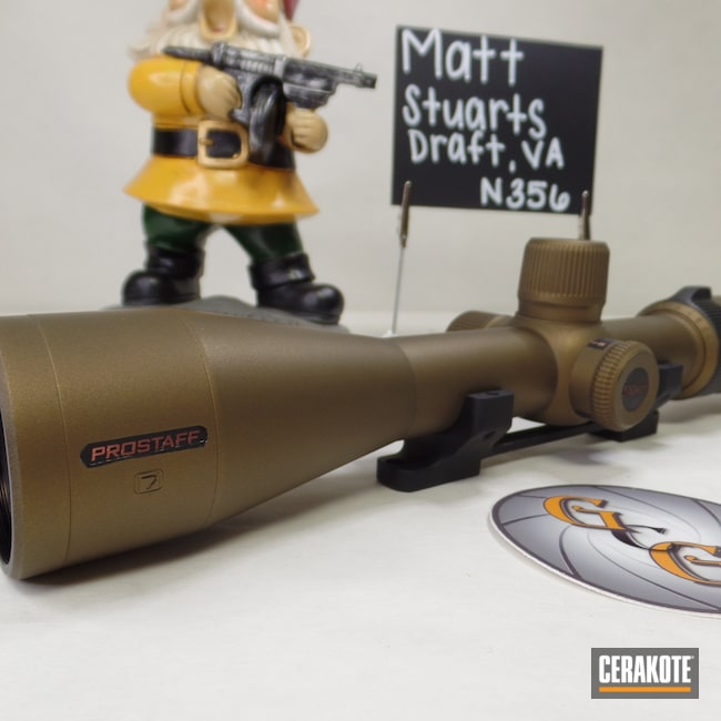 Cerakoted: SHOT,Scope,Leupold Scope,Burnt Bronze H-148,Nikon,Nikon Prostaff,Cerakote That S**t,Nikon Scope,Leupold
