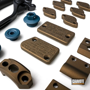 Cerakoted Yamaha Motorcycle Parts In E-100, H-148 And H-185