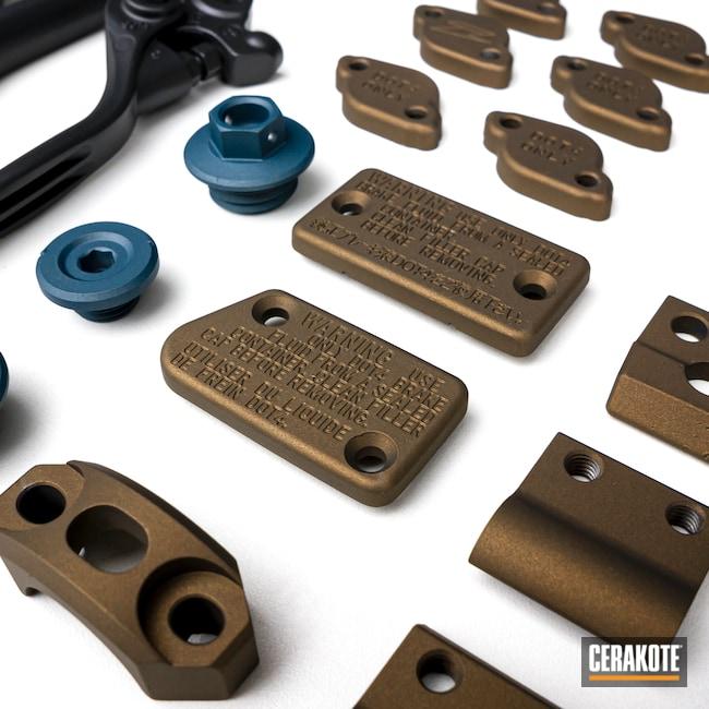Cerakoted: BLACKOUT E-100,Motorcycles,Yamaha,Burnt Bronze H-148,Automotive,Blue Titanium H-185,Motorcycle
