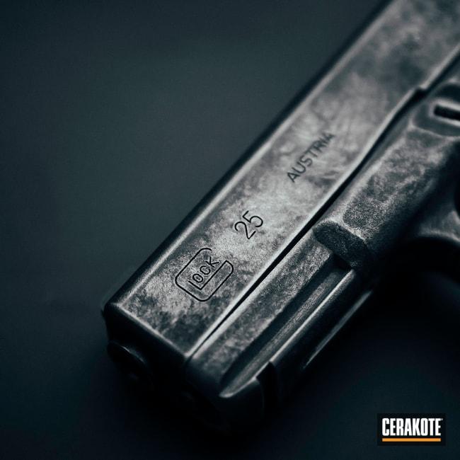 Cerakoted: SHOT,Graphite Black H-146,Distressed,Satin Aluminum H-151,Pistol,Glock,Glock 26,Handgun