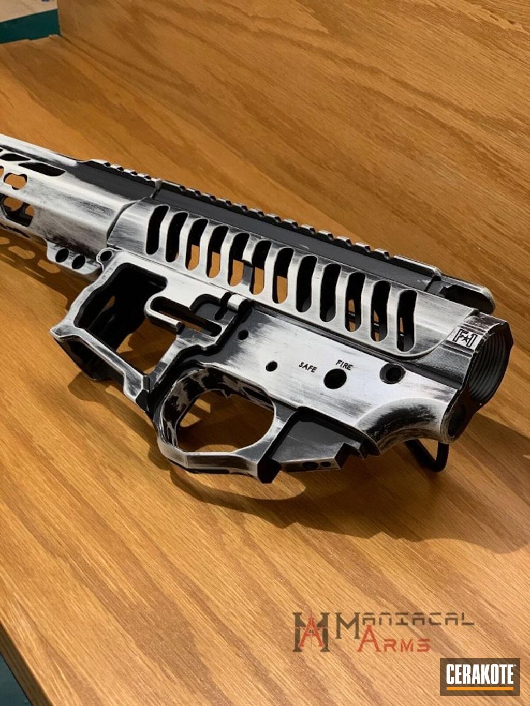 F1 Firearms Upper Lower Handguard Featuring Stormtrooper White And Graphite Black Cerakote