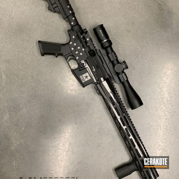 Cerakoted Dpms Ar-15 In H-146 And H-170