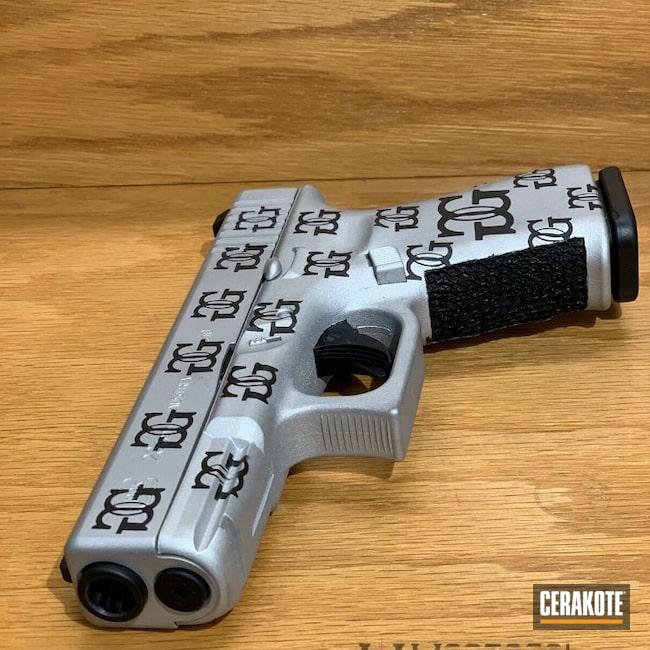 Cerakoted: SHOT,Stippling,Graphite Black H-146,Stippled,Satin Aluminum H-151,Pistol,Glock,Glock 23,Hand Stippled,Custom Stipple,Grip Stipple,G23