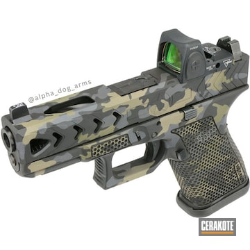 Cerakoted Multicam Laser Stippled Glock 19