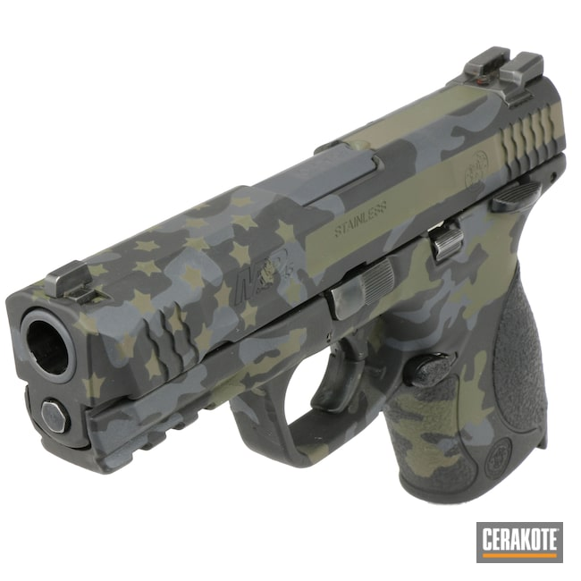 Cerakoted: S.H.O.T,Sniper Grey H-234,MAGPUL® FLAT DARK EARTH H-267,MultiCam,Armor Black H-190,American Flag,S&W,M&P45,Mil Spec Green H-264