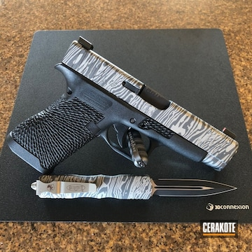 Cerakoted Matching Glock And Otf Knife In H-170 And H-112