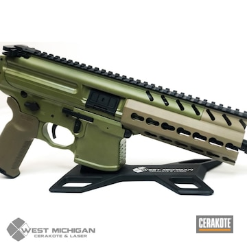 Cerakoted Sig Sauer Mpx In H-267 And H-189