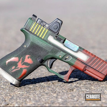 Cerakoted Boba Fett Themed Glock Handgun