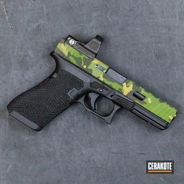 Cerakoted Multicam Tropic Custom Glock Handgun