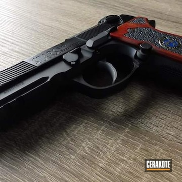 Cerakoted Beretta 92a1 In H-152