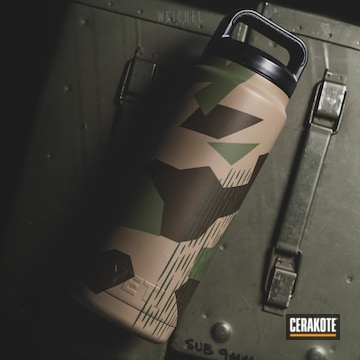 Cerakoted Splinter Camo Yeti Water Bottle