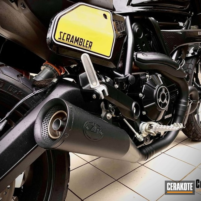Cerakoted Black Ducati C7600 Motorcycle Exhaust