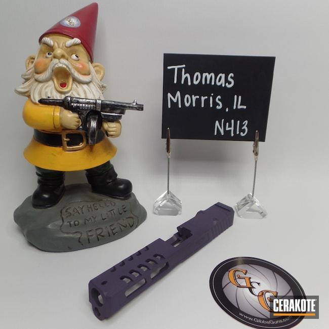 Cerakoted: S.H.O.T,Gun Slide,Bright Purple H-217,Tungsten H-237,Cerakote That S**t,Slide