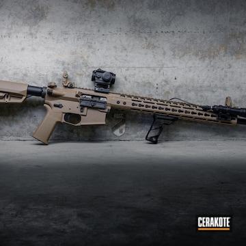 Cerakoted Custom Ar Rifle In H-267 And H-146