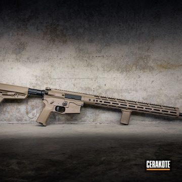 Cerakoted Two Toned Ar 5.56 Rifle In H-267 And H-146