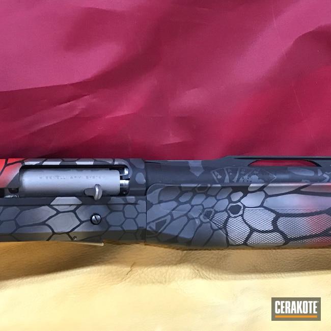 Cerakoted: S.H.O.T,Sniper Grey H-234,FIREHOUSE RED H-216,Shotgun,Cerakote,Graphite Black H-146,Superblackeagle,Benelli,Gun Metal Grey H-219,12 Gauge