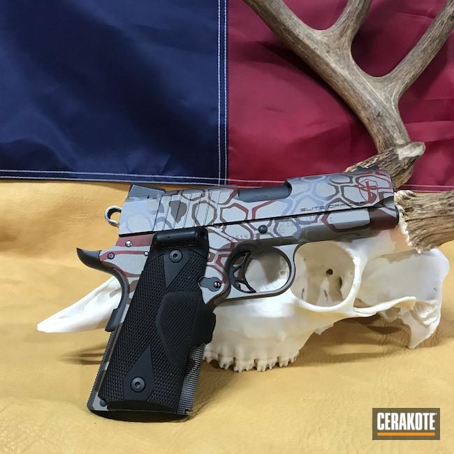 Cerakoted: S.H.O.T,Sniper Grey H-234,Compact,Knights Templar,Graphite Black H-146,Para,HABANERO RED H-318,Pistol,Deus Vult,1911,45 ACP