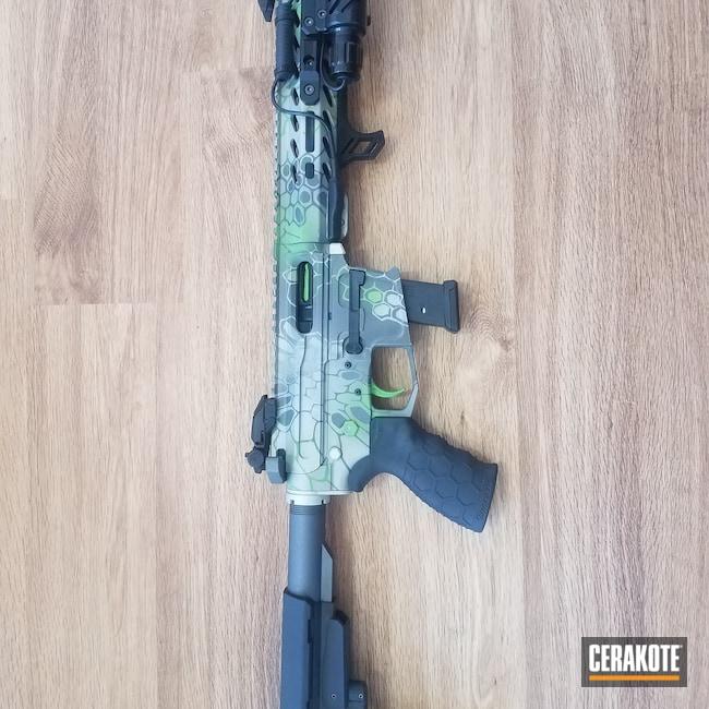 Cerakoted: SHOT,Kryptek,AR Pistol,AR,Zombie Green H-168,Tungsten H-237,Tactical Rifle,Bright Nickel H-157,AR9