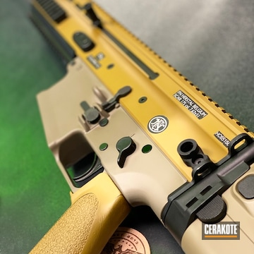 Cerakoted Fn Scar Rifle In H-267 And H-8000