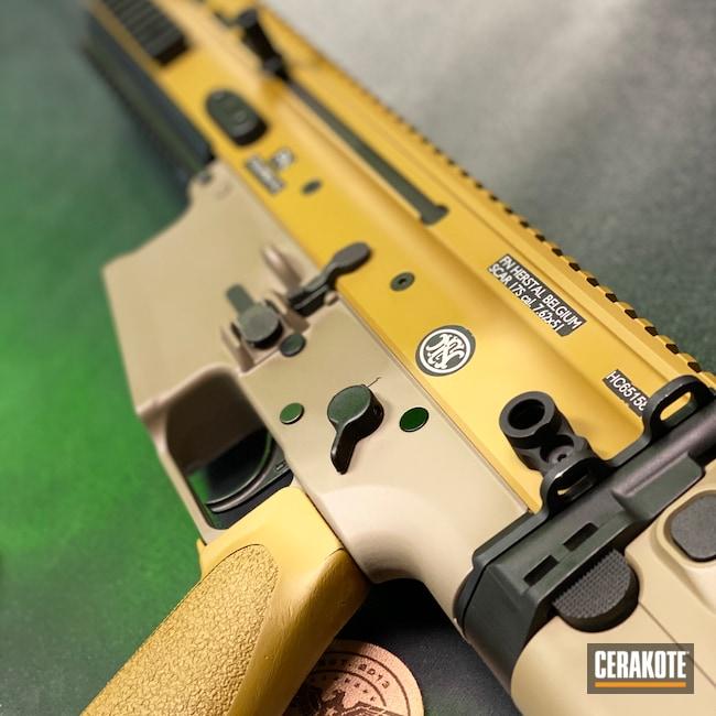 Cerakoted: SHOT,SCAR,MAGPUL® FLAT DARK EARTH H-267,FNH,Ral 8000 H-8000,Tactical Rifle
