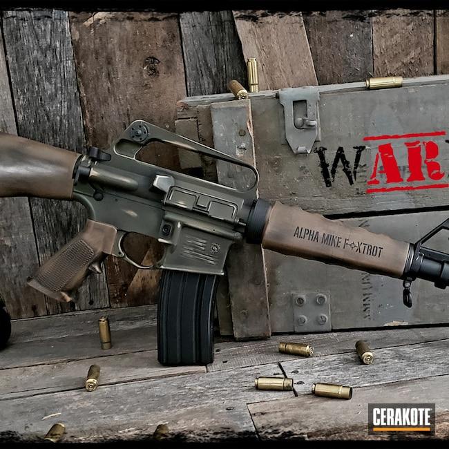 Cerakoted: S.H.O.T,.458 Socom,Big Bore,O.D. Green H-236,US Army,#warr dogz,Graphite Black H-146,AR,Desert Sand H-199,BARRETT® BROWN H-269,America,Retro Rifle,Military,AR-15